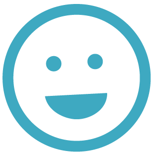 lachender Smiley - mit Rauchen aufhören